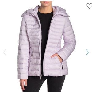 Laundry By Shelli Segal quilt flared puffer jacket
